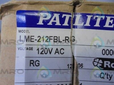 Patlite Lme-212Bl-Rg  *new In Box*