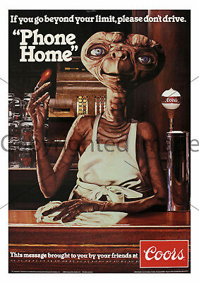 1982 E.T. Coors 11x15.5 Designated Driver Poster Reproduction Print A05