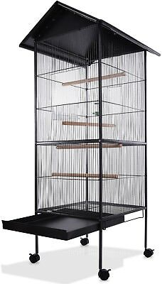 Large Bird Aviary Bird Cage Metal Parrot Birds House Birdcages Stable Steel