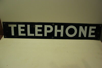 Porcelain Telephone Sign Phone Booth