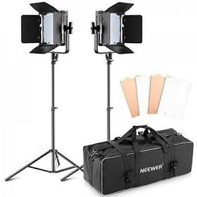 Ultra High Power 600 LED Barndoor Continuous Lighting Vid Neewer Double Dimmable