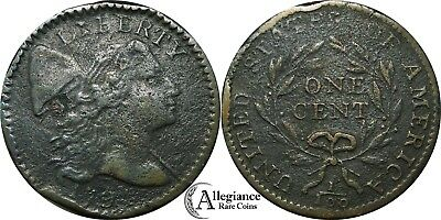 1794 1c Flowing Hair Large Cent S-59 R.3 from an old estate lot/collection