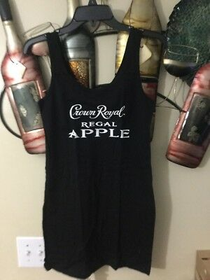CROWN ROYAL Regal Apple  Womens Top Tank Size Med 100% Cotton