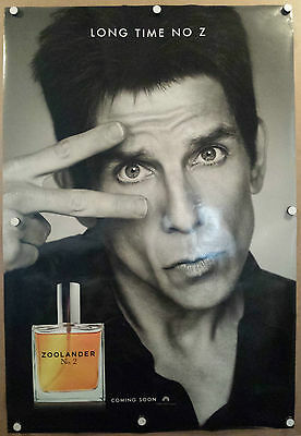 "Zoolander 2 Double Sided Original Movie Poster 27""x40"" Ben Stiller Advance"