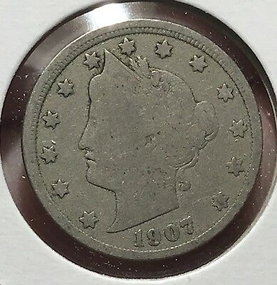 1907 Liberty V Nickel. Nice Collector Coin For Your Collection.6