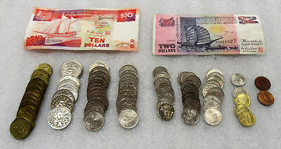 Collector Lot of Singapore $37.97 Face Value - Includes Coins & Currency!
