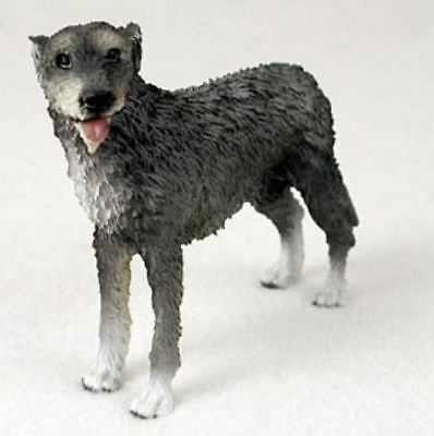 IRISH WOLFHOUND DOG Figurine Statue Painted Resin Figure