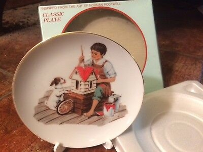"""Norman Rockwell """"A Dollhouse for Sis"""" 1984 collectible ceramic plate NEW!!"""