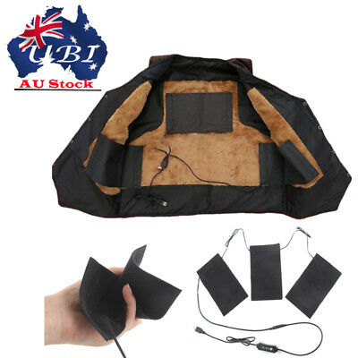 Electric Heating Pad Cloth Thermal Vest Heat Jacket Mobile Warming Gear Outdoor