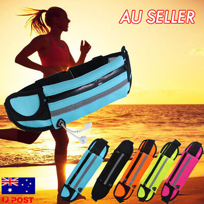 Waterproof Running Bum Bag Fanny Pack Waist Belt Money Wallet Zip Pouch Sports