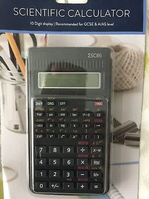 Tesco 10 Digit Display Scientific Calculator For Gcse/a Level Uk
