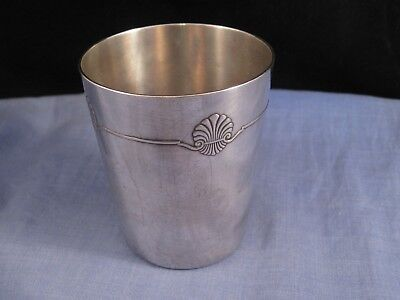 CHRISTOFLE ANTIQUE VINTAGE FRENCH SILVER PLATED BEAKER CUP EDWARDIAN 1900s