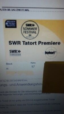 2 Tickets Tatort Premiere Stuttgart 18.05.2018