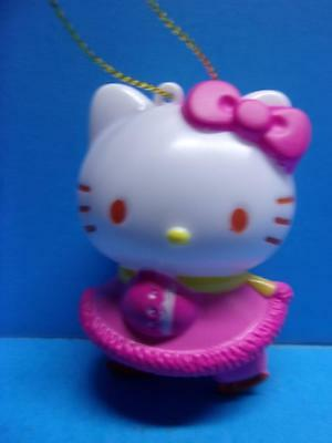 Hello Kitty Sanrio Plastic Christmas Ornament Ice Skates Pink Outfit NWOT