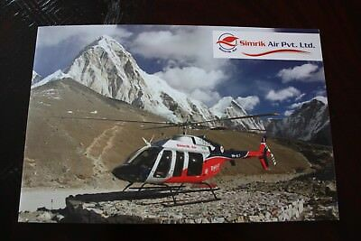 SIMRIK AIR NEPAL SALES BROCHURE & AIRLINE ISSUE POSTCARDs HELICOPTER