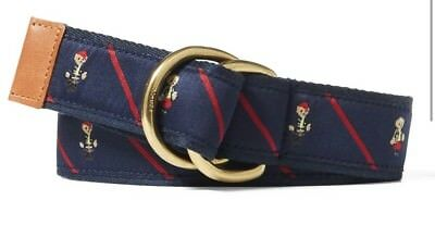 Polo Ralph Lauren Bear Ribbon D-Ring Belt Navy Kids XS