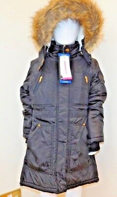 Hawke & Co GIRLS Marissa Hooded Parka With Faux Fur Trim 3 COLOURS 2 SIZES BNWT