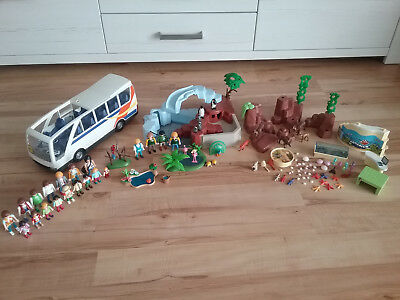 Konvolut f. Zoo Tierpark Pinguinbecken Aquarium Bus PLAYMOBIL
