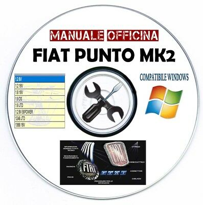 Manuale Officina Fiat Punto MK2 2° Serie 1999-2010 Workshop Manual Multilanguage