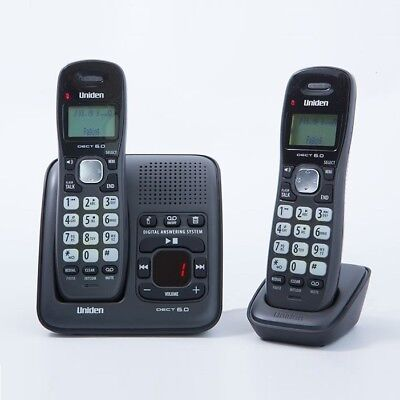 Uniden 2 Dect Twin Cordless Phone Landline Home Office Telephone Desk Desktop