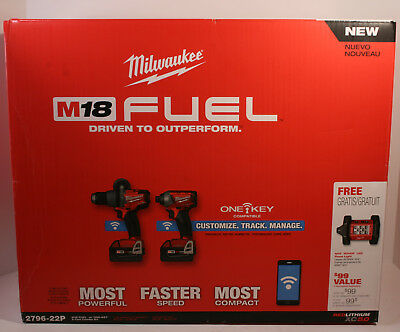 Milwaukee 2796-22 M18 Fuel 2-Tool Combo Kit With One-Key !