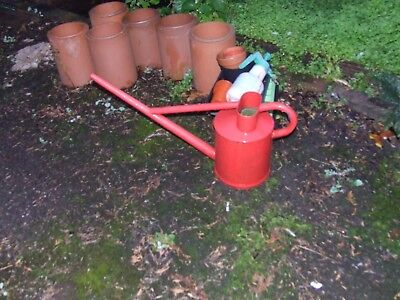 Vintage Metal Long Reach  Watering Can Made in England