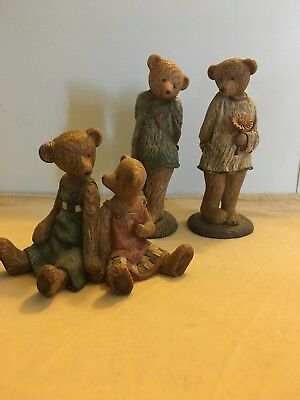 Lot Of 3 Boyds Bears Figurines