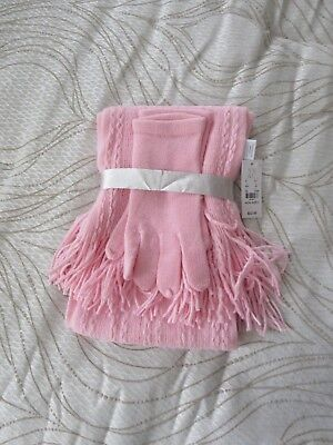 NWT! NEW YORK & CO. Sweet Pink Scarf/Glove Set~One Size