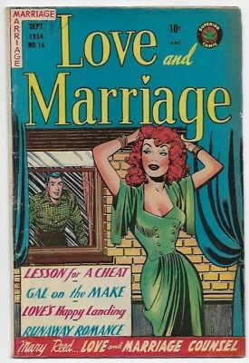 LOVE and MARRIAGE#16  Sleazy Superior Romance VG+