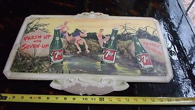 vintage 7up advertising, cardboard poster dated 1946. Great condition