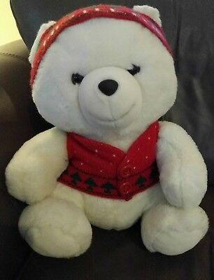 Marshall Fields Mistletoe Bear with Hat and Vest