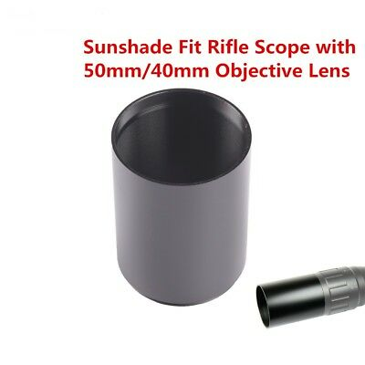 Tactial Sunshade Tube Shade for Rifle Scope with 40mm or 50mm Objective Lens