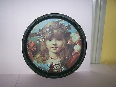 Antique Saloon/bar Serving Tray Victorian Litho Sweet Girl