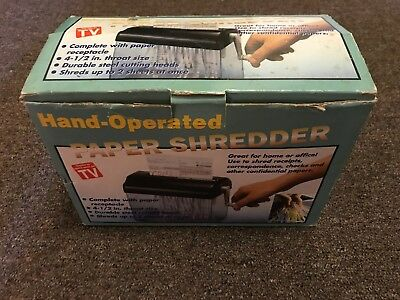 Hand Operated Paper Shredder - New with Damaged box