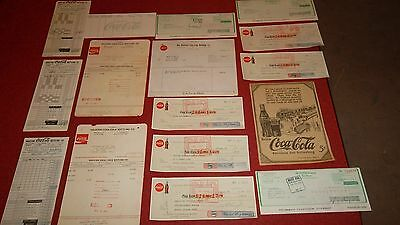 COCA COLA COKE Collection  -  Ads  CHECKS  Letterheads  -  Lot of 16