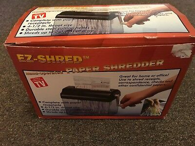 EZ-Shreder Hand Operated Paper Shredder