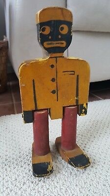 Antique Folk Art Dancing Jig Stick Doll Black Americana African American 12""