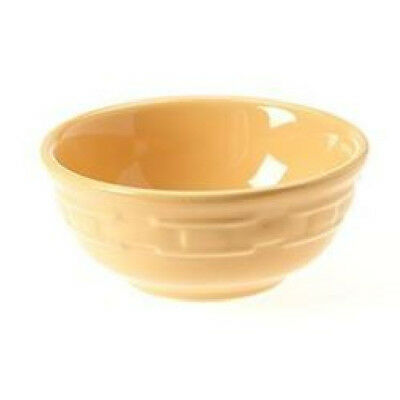 Longaberger Pottery Soup Salad bowl 16 oz Butternut Woven Tradition NEW w/box
