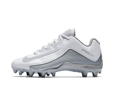 NIKE Speedlax 5 White/Silver/Gray Lacrosse Cleats 807158 100 NIB Women's Size 10