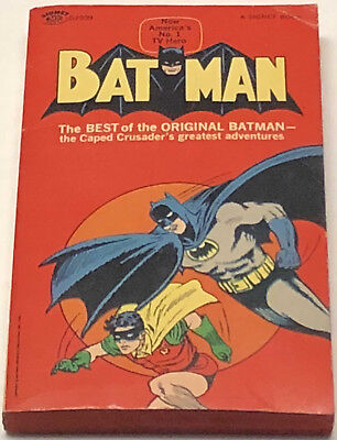 1966 FIRST PRINTING BATMAN Signet paperback BOOK Comic DC Robin TV newspaper