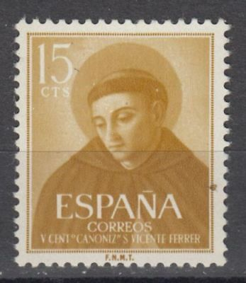 Spain (1955) Mnh New Free Stamp Hinges Spain - Edifil 1183 Vicente Ferrer