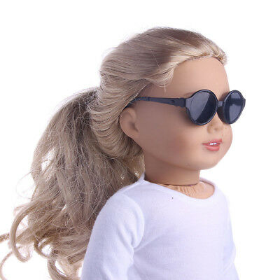 Plastic Black Glasses Eyewear for 18inch American Girl Our Generation Doll