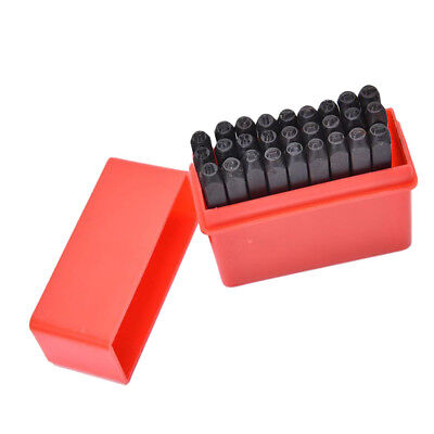 Metal 27pcs Letters Punch Marking Stamping Tool Kit Set Hardened Steel 3mm