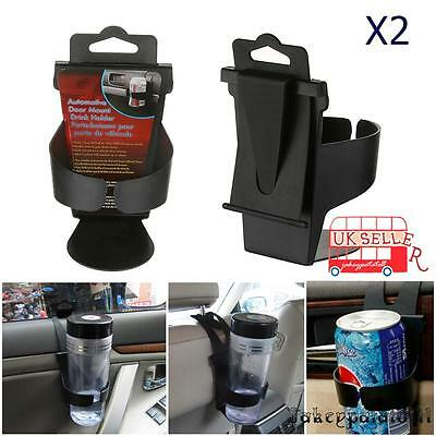 2X Universal Car Cup Holder Door Mount seat back drinking Bottle Can Mug Stand04