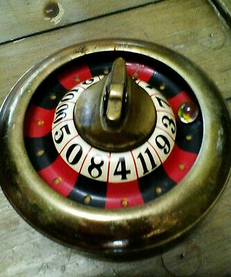 Vintage  Monte Carlos Small Roulette Wheel  with cigarette lighter PAT454046