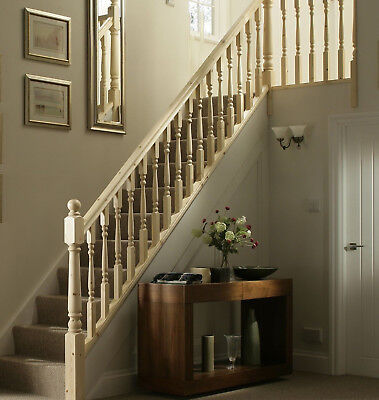 Colonial Turned Stair & Landing Balustrade Kit - Select Timber and Kit Type