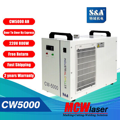 Industrial Water Chiller Cool 5KW Spindle Welding CW-5000AH AC220V 50Hz S&A