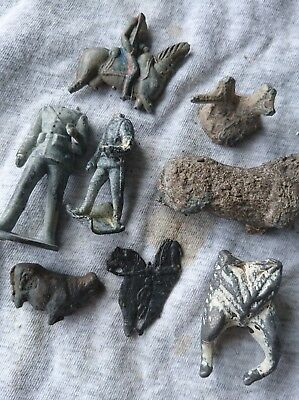 Metal detector finds Lead or tin toys 17th - 18th century Delft - Amsterdam