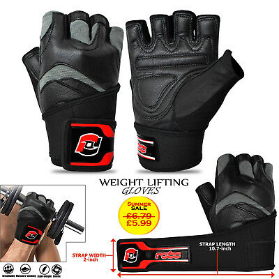 Fitness Leather Gym Workout Weight Lifting Wrist Support Body Building Gloves