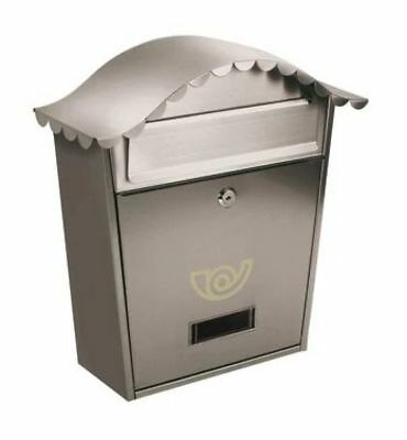 Buzon De Correo Lifter CHALET 37x36,5x10,5 cm de Acero inoxidable Color Plata